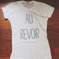 The Front Bottoms Au Revoir Lyric Shirt