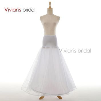Bridal A-Line Underskirt Bridal Accessories Petticoat White  For Wedding