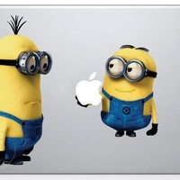 Despicable Me Minion holding Apple Macbook Decal skin sticker:Amazon:Everything Else