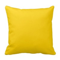 Canary Yellow Decorative Throw Pillows For Couches