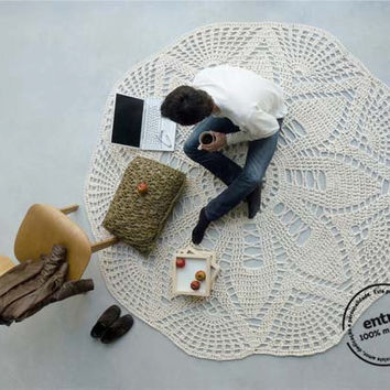 BIG scale handmade crochet rug, ENTRE collection - design N 005, born February 2013, by hands of ARTSPAZIOS