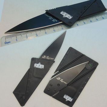 Stainless steel blade Wallet knives survival camping tool