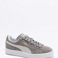 Puma Classic Grey Suede Trainers - Urban Outfitters