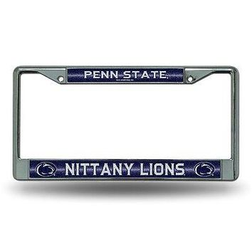 Penn State Nittany Lions NCAAGlitter Bling Chrome Auto License Plate Frame