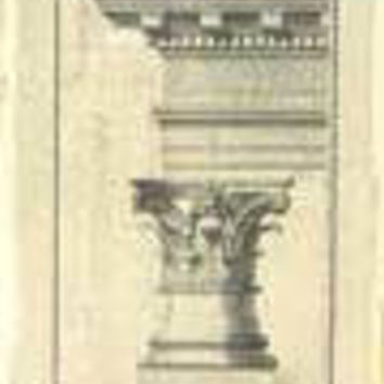 Crackled Column and Cornice I