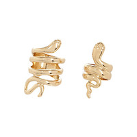 River Island Womens Gold tone snake ring 2 pack