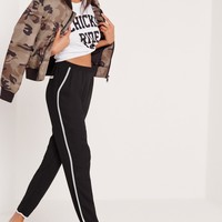 Missguided - Piped Cigarette Pants Black
