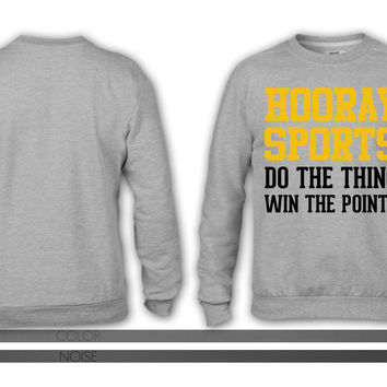 Hooray Sports (Yellow) crewneck sweatshirt