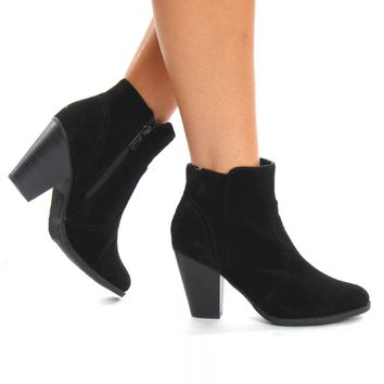 Out & About Suede Bootie Black