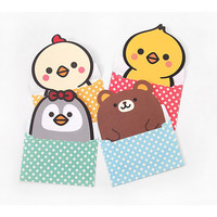 2young Cute animal letter paper and dot envelope set
