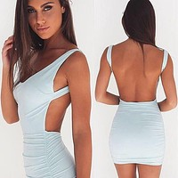 Backless Spring and Summer Dress