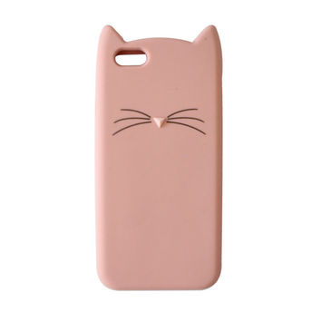 Crazy Cat Case Cover for iPhone 7 made with  Soft Silicone