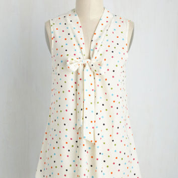 Miami Moments Top in Ivory Dots | Mod Retro Vintage Short Sleeve Shirts | ModCloth.com