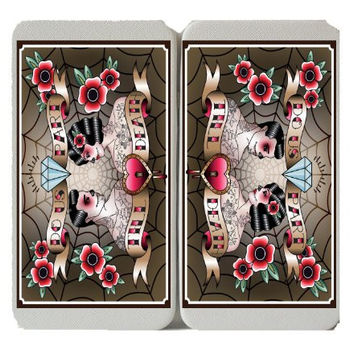 'Till Death Do Us Part' - Skull Couple - Marriage - Taiga Hinge Wallet Clutch
