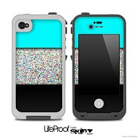 Three-Toned Turquoise Colorful Dotted Skin for the iPhone 5 or 4/4s LifeProof Case