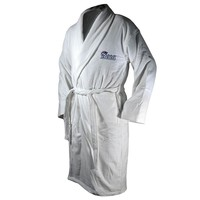 New England Patriots Bath Robe, Size: One Size (White)