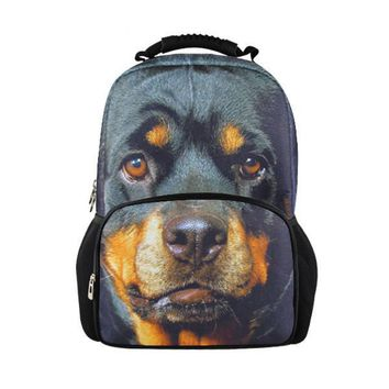fashion 3d pet dog backpacks for boys men's backpack college students school bags for teenagers children bagpack animal mochila