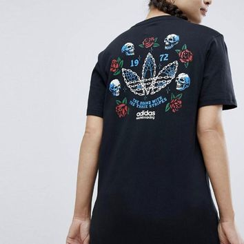 adidas skateboarding oversized t shirt with back print