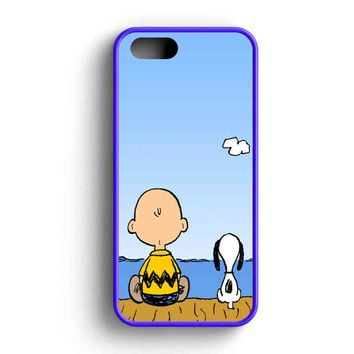 Snoopy And Charlie Brown iPhone 5 Case iPhone 5s Case iPhone 5c Case