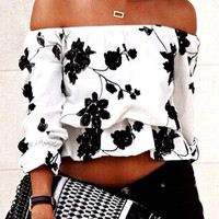 Fashion Sexy Printed Top