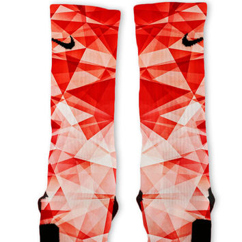 Red Prism Custom Nike Elite Socks