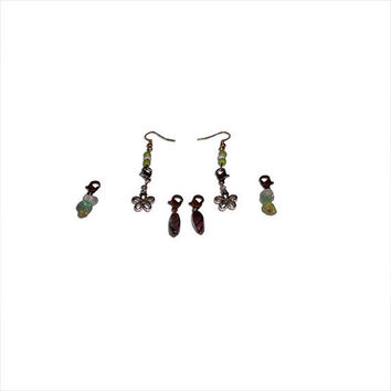 Interchangeable Earrings-Green