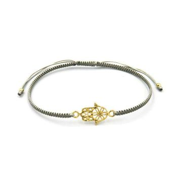 Slide Bracelet - Gold Hand of Fatima