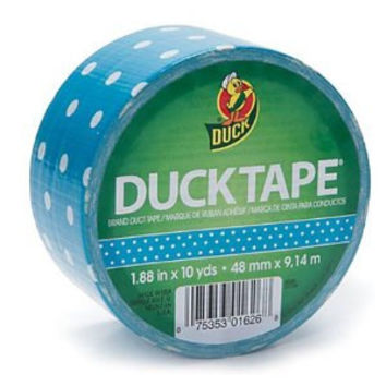 Duck Brand Blue Polka Dot Printed Duct Tape 10 yards x 1-7/8 inches - FREE SHIPPING