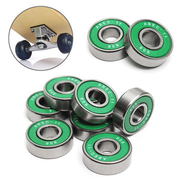 8Pcs 608 ABEC - 11 Skate Roller Inline Skating Scooter Bearing Shields Chrome Steel Bearings for Scooter Parts Random Color