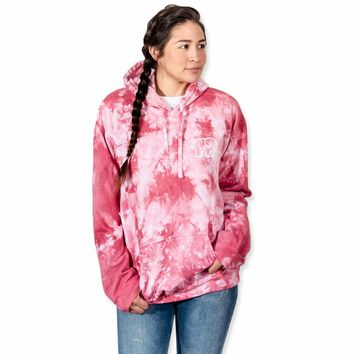 Cloud Tie Dye Rose Oversized Hoodie