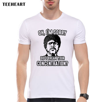 New Summer Fashion Pulp Fiction Design T Shirt Men's High Quality movie Tops Hipster Tees