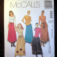 Women's Pull-On Skirts Misses Size 4, 6, 8, 10, 12, 14 McCall's 2959 Sewing Pattern Uncut