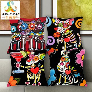 1 PCS 43*43cm Cute Sugar Skull Mouse Cushions L
