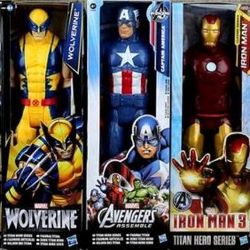 Super Hero Wolverine/Ironman/Spiderman/Thor/Captain/Warmachine Action Figure doll Collectible Model Boy Toy gift