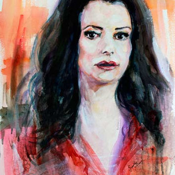 Criminal Minds Emily Prentiss Watercolor by Ginette