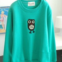 The cartoon owl fleece thickened Women sweater  from Fashion Accessories Store