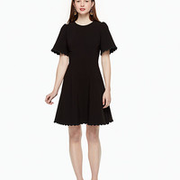 scallop crepe swing dress