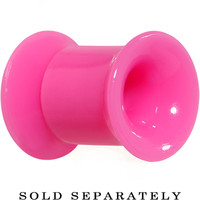2 Gauge Hot Pink Acrylic Double Flare Ear Tunnel | Body Candy Body Jewelry