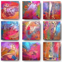 9 x Original Set of Art by C A Jasper Textured and by CAJasperArt