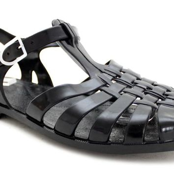 BLACK MILO Mens Jelly Sandals at Mr Shoes UK