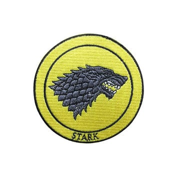 Game of Thrones Patch Stark Patch Embroidered Movie Patch Iron on Patch Sew on Patches