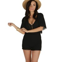 Sale-black Roadside Romper