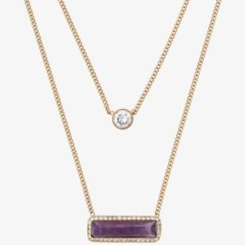 Gold-Tone Amethyst Double-Strand Necklace | Michael Kors