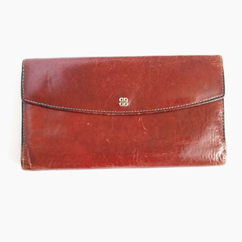 Ladies, Vintage, Bosca, Hand Stitched, Leather, Wallet, Made In USA