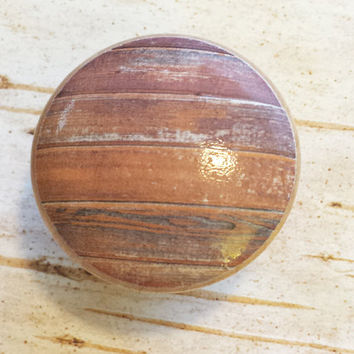 Distressed Wood Knob Drawer Pulls, Old Wood Cabinet Handles,  Reclaimed Wood, Made To Order, Style 12