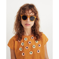 Embroidered Sunflower Top : shopmadewell tops & blouses | Madewell