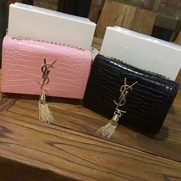 YSL tassel shoulder bag female inclined shoulder bag G-A-GHSY-1