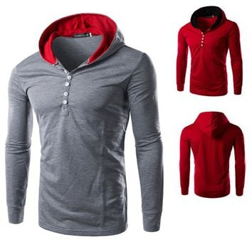 Men's Henley Design Tee with Hood – Sneak Outfitters