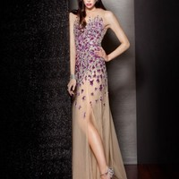 Jewel Embroidered Gown, Style 157715
