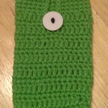 Smart Phone Cozy, MONSTERS INC inspired handmade crochet cozy, fits most smartphones